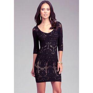Bebe lace drama bodycon dress